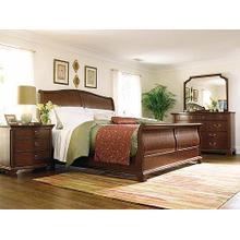 1005 Queen Sleigh Bed, Dresser, Mirror, Chest, and Nightstand
