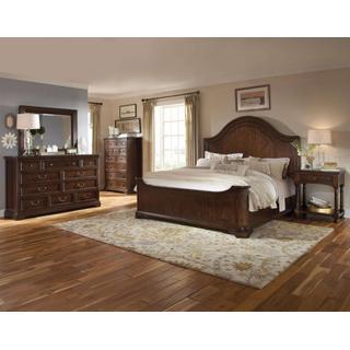 See Details - Egerton King Group:  Bed, Dresser, Mirror & 2 Nightstands