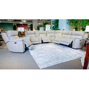 Next-gen Durapella 3-piece Zero Gravity Power Reclining Sectional Sand