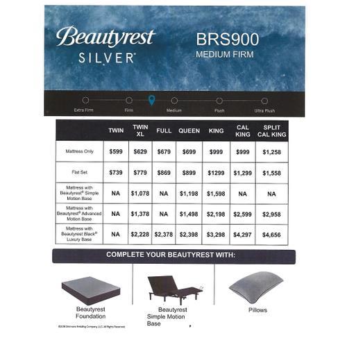 Beautyrest Silver - BRS900 - Medium Firm - Queen