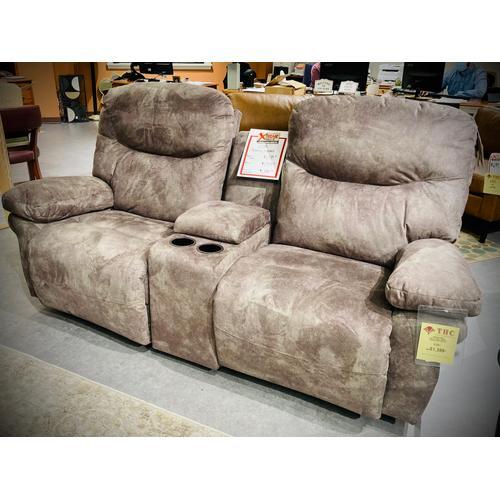 Best Home Furnishings - LEYA Console Reclining Loveseat in Elk     (L670RC7-19869C,29060)