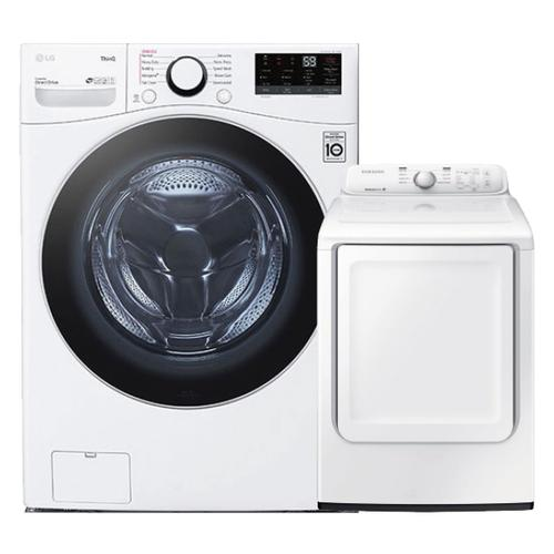 4.5 cu. ft. Ultra Large Capacity Smart Wi-Fi Enabled Front Load Washer & 7.2 cu. ft. Electric Dryer- Minor Case Imperfections