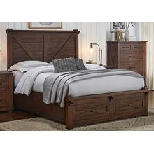 See Details - Sun Valley King Storage Bed Rustic Timber