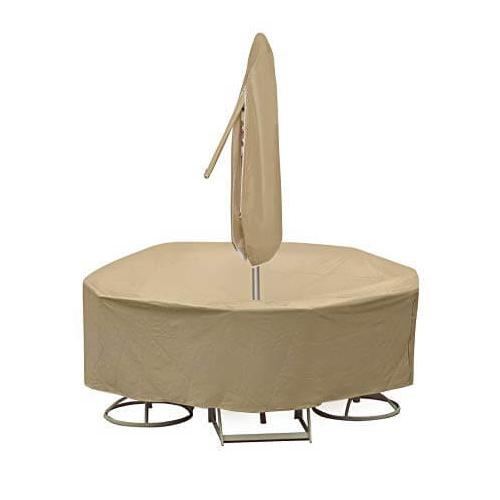 """Pci Protective Covers By Adco - Round Table & Chair Set Cover, 48"""" x 54"""" Table With 4-6 High Back Chairs"""