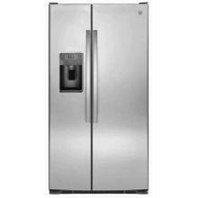 See Details - GE 25.3-cu ft Side-by-Side Refrigerator with Ice Maker