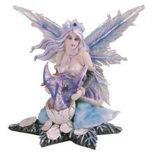 """Fairy, Blue on a Star 5"""" high"""