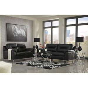 Tensas- Black Sofa and Loveseat
