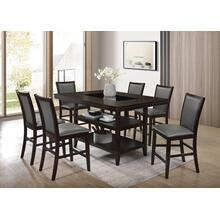 Condor - Espresso Counter-Height Table with 6 Side Chairs