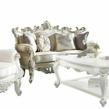 ACME Picardy II Loveseat w/4 Pillows - 53461 - Fabric & Antique Pearl