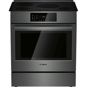 Bosch800 Series Induction Slide-in Range 30'' Black Stainless Steel HII8046U