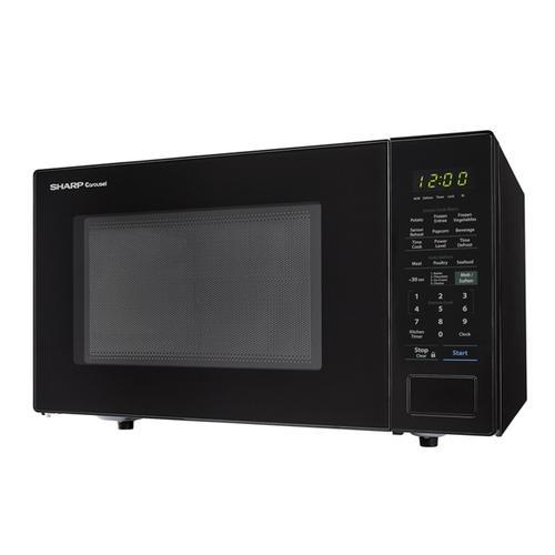 1.4 cu. ft. 1000W Sharp Black Countertop Microwave Oven