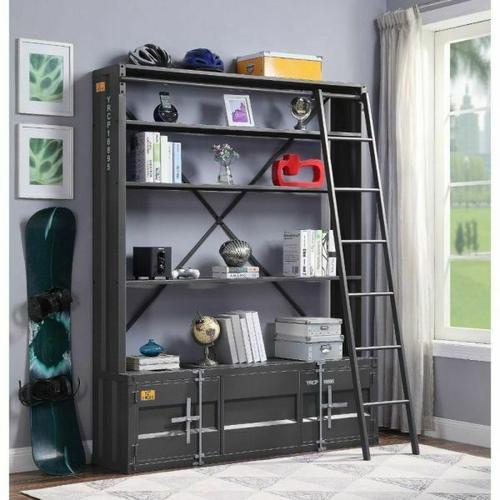 ACME Cargo Bookshelf & Ladder - 39887 - Gunmetal