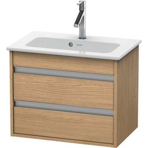 Vanity Unit Wall-mounted Compact, European Oak (decor)