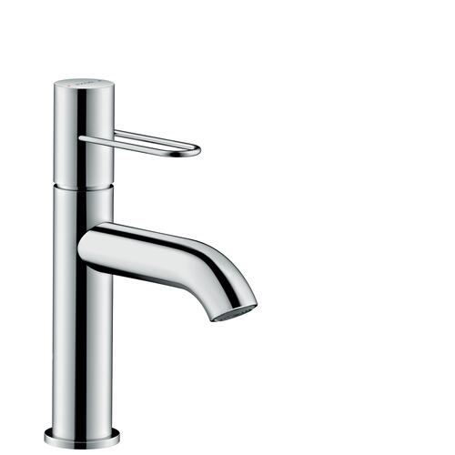 Polished Black Chrome Single lever basin mixer 100 with loop handle and waste set