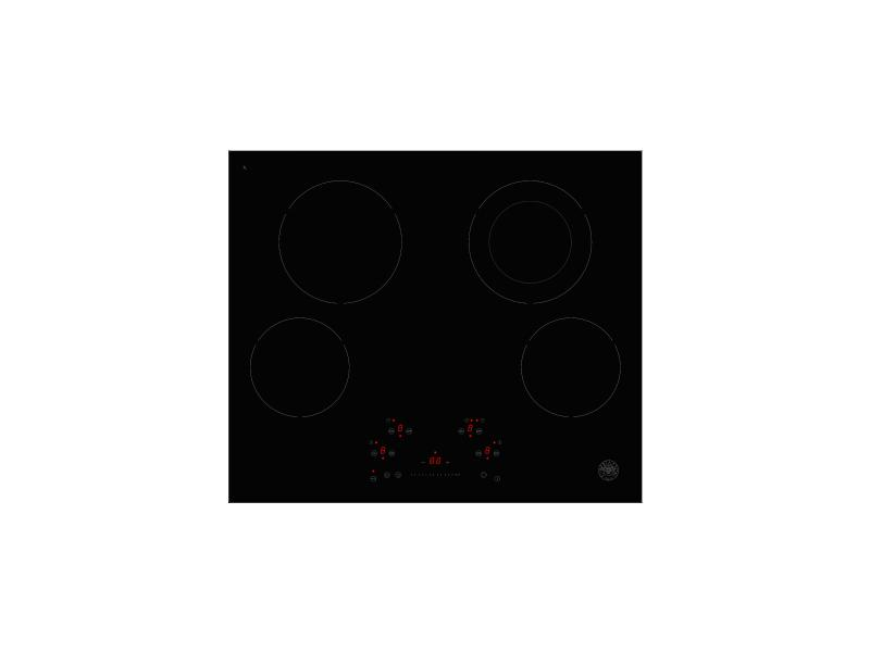 24 Ceran Touch Control Cooktop 4 heating zones Nero
