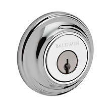 Polished Chrome Traditional Round Reserve Deadbolt