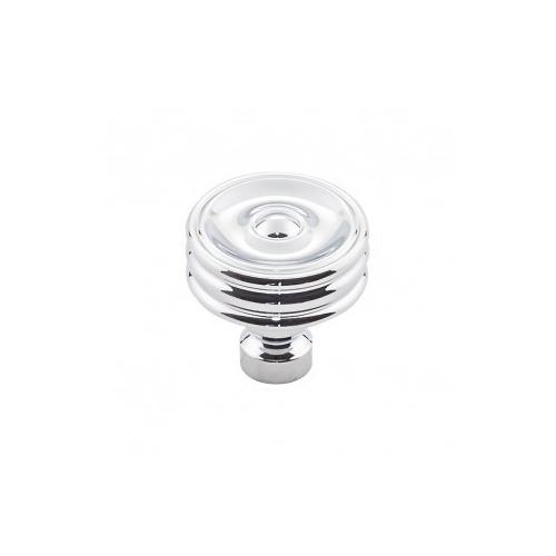 Product Image - Brixton Ridged Knob 1 1/4 Inch - Polished Chrome