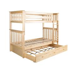 See Details - Twin/Twin Bunk + Trundle Storage Natural