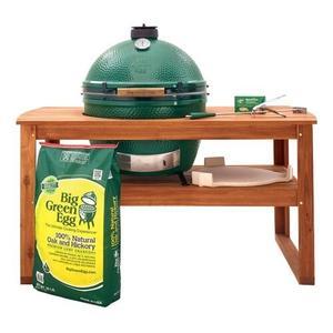 Big Green EggXLarge EGG in Acacia Table Package