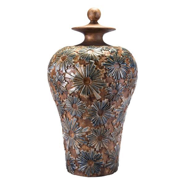 See Details - Large Cusco Temple Jar Brown