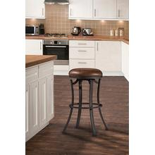 See Details - Kelford Backless Swivel Counter Stool - Textured Black
