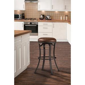Kelford Backless Swivel Counter Stool - Textured Black