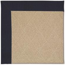 Creative Concepts-Cane Wicker Canvas Navy Machine Tufted Rugs