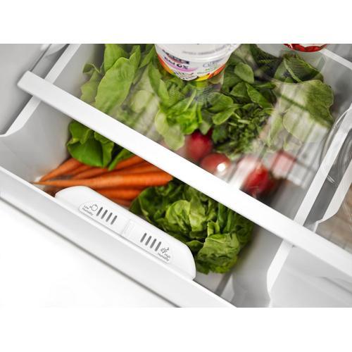 30-inch Wide Top-Freezer Refrigerator with Garden Fresh Crisper Bins - 18 cu. ft. White