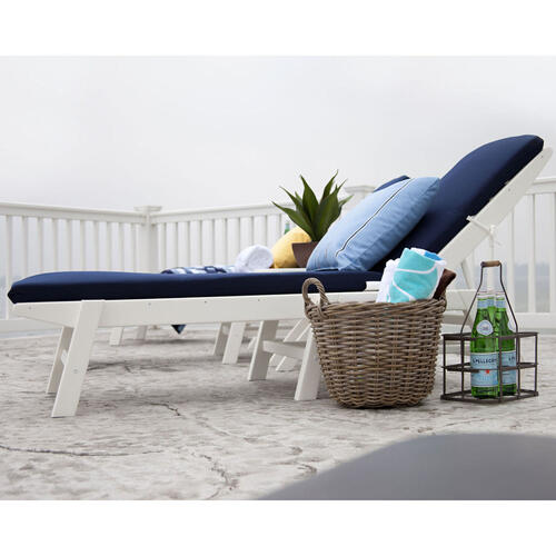 Black Nautical Chaise with Wheels