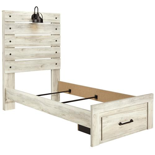 Cambeck - Whitewash 3 Piece Bed (Twin)