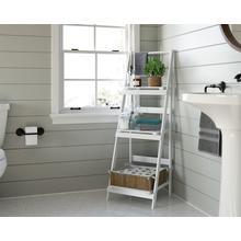 See Details - White 3-Tier Folding Ladder Storage Shelf