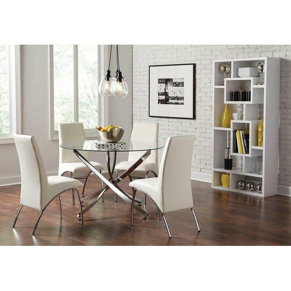 See Details - Ophelia Contemporary White Dining Chair