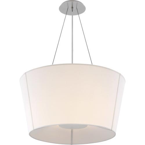 Visual Comfort - Barbara Barry Hoop 2 Light 26 inch Soft Silver Hanging Shade Ceiling Light, Medium Inverted