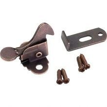 See Details - Dark Brushed Antique Copper Elbow Catch Polybagged with Screws