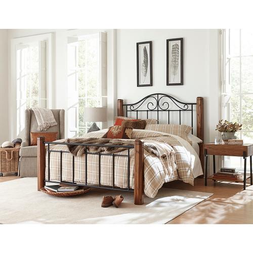 Fulton King Bed, Textured Black