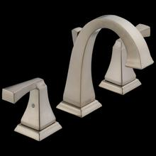 Stainless Two Handle Widespread Bathroom Faucet