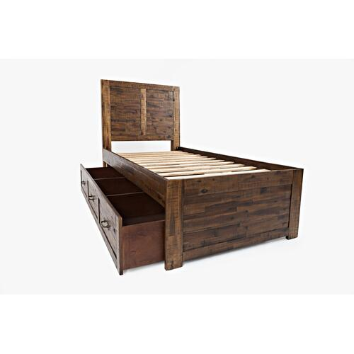 Sonoma Creek Twin Panel Bed With Trundle Unit