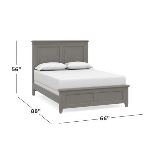 Shoreline King Panel Bed, Footboard Low, Storage None