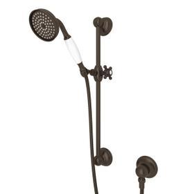 Tuscan Brass Single-Function Anti-Calcium Handshower/Hose/Bar/Outlet Set
