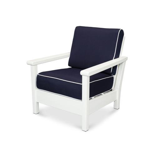 White & Navy / Natural Harbour Deep Seating Chair