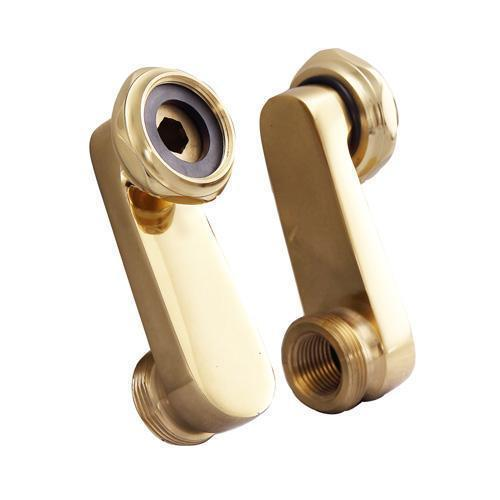 Swivel Arm Connectors for Deck Mount Faucet - Polished Brass