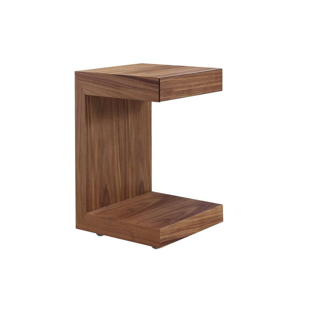The Lino Nightstand In Walnut Veneer