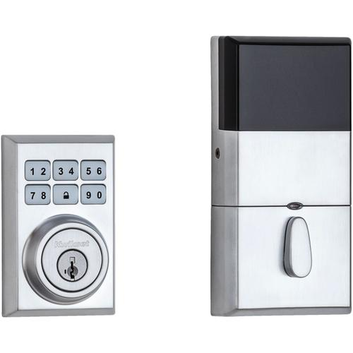 Kwikset - 910 SmartCode Contemporary Electronic Deadbolt with Zigbee Technology - Satin Chrome