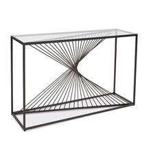 See Details - Optical Twist Console Table