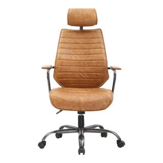 Executive Swivel Office Chair Cognac