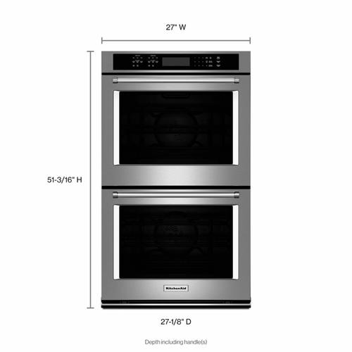 """KitchenAid - 27"""" Double Wall Oven with Even-Heat™ True Convection - Stainless Steel"""