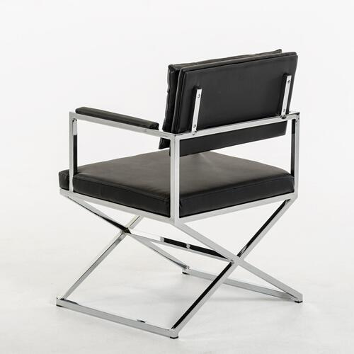 VIG Furniture - Modrest Cosme Modern Black Leatherette Dining Armchair