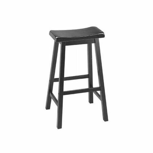 "ACME Gaucho Bar Stool (Set-2) - 07308 - Black - 29"" Seat Height"