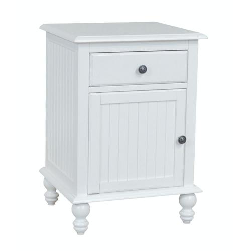 1 Drawer / 1-Door Nightstand in Beach White