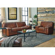 J310 MACCO: Leather Ottoman in Stampede Chestnut (MFG#: J310-001-06-SP0K)